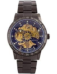 【FAR EAST】腕時計 スケルトン 機械式 自動巻き メンズ ウォッチ 防水 シンプル ビジネス カジュアル ファッション おしゃれ 専用BOX付き プレゼントにも最適