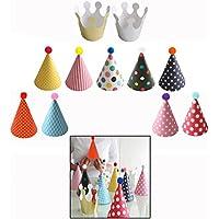 OFKPO バースデー帽子 王冠 三角帽子 クラウン 誕生日お祝い 飾り 簡単 手作り バースデーパーティーハット バースデー帽子セント