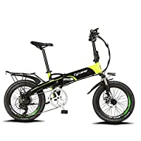 Extrbici(エクストリビシ) XF500 自転車 折りたたみ MTB 250W 48V * 10Aリチウム電池(フレームに隠し) 20インチ超軽量 シマノ7段変速 マウンテンバイク サスペンション荷台付 自転車 (グリーン)
