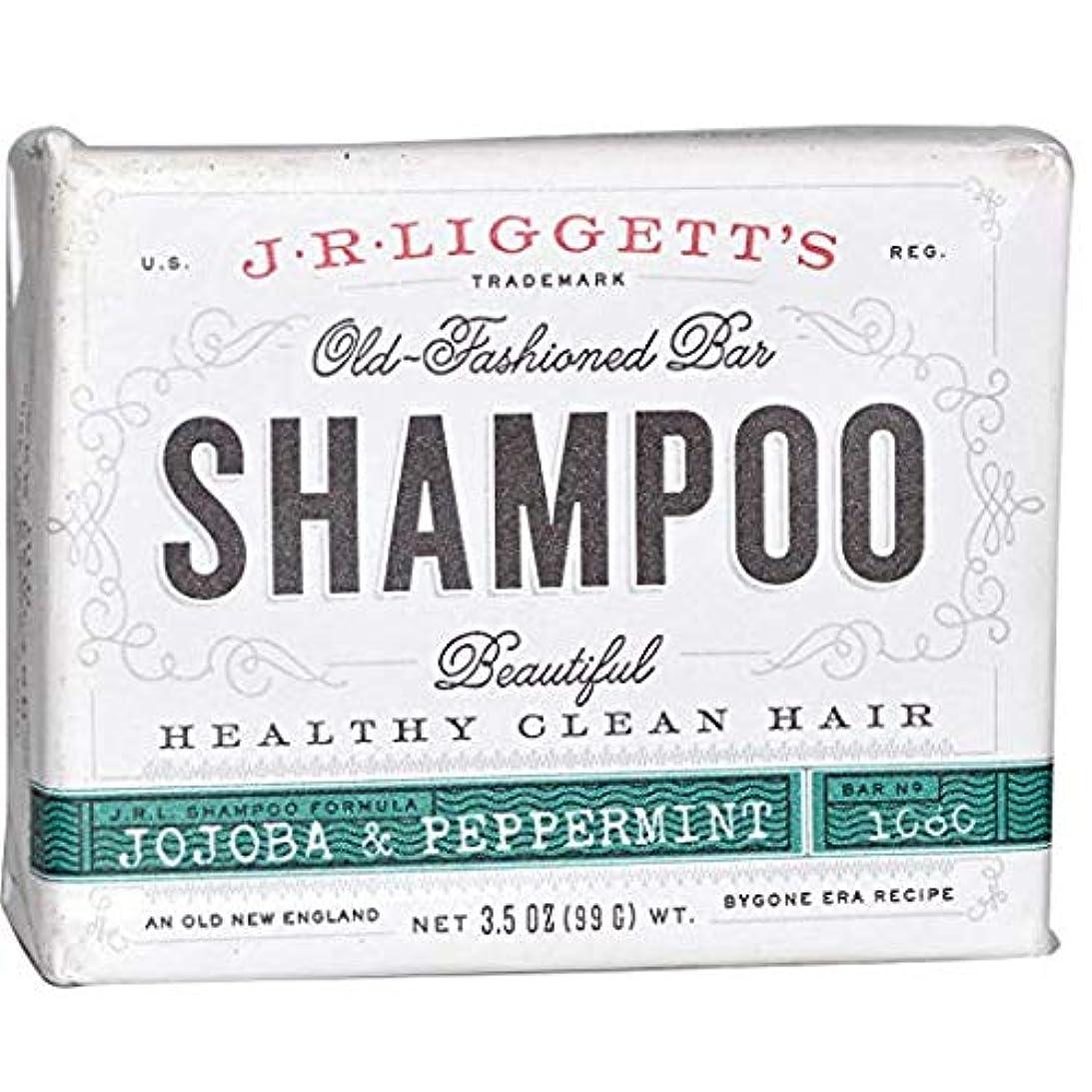 責任反動手数料J.R. Liggett's ジェイアール リジェッツ ホホバ&ペパーミントさっぱり清潔 固形石鹸シャンプー 3.5 oz (99 g) [並行輸入品]