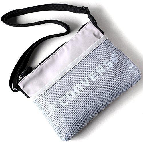 CONVERSE (コンバース) クラシック サコッシュ dwearsステッカー入り ショルダーバッグ ポーチ トラベル 旅行 バッグ ミニ ショルダー 東京 TOKYO <グレー>