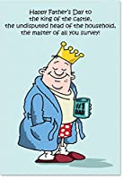 King of the Castle父の日ユーモアカード 1 Father's Day Card & Envelope (SKU:0239)