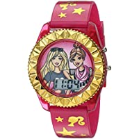 Barbie Girls' Quartz Watch with Plastic Strap, Pink, 17.6 (Model: BAB4001)