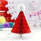 3個セット サンタ帽子 高さ20cm クリスマス飾り付け サンタクロース ペーパーデコレーション 手作り ハニカム クリスマスグッズ 店のディスプレイ 雑貨 SUNBEAUTY