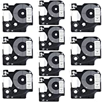 DYMO D1 45013 Label Tape LaBold 10 Pack Black on White Label Tape Cartridge Compatible for DYMO Standard D1 45013 Label Manager 1/2 x 23' (12mm x 7m) [並行輸入品]