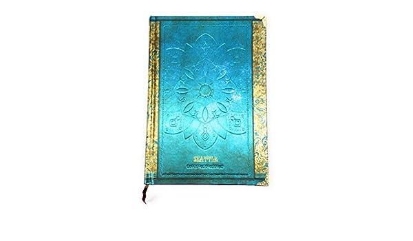 f7d3eb07fd4e Amazon | 【Deli】 アンティーク ヨーロピアン風 洋書のような 美しい ノート B6サイズ (ブルー) [並行輸入品] | ノート |  文房具・オフィス用品