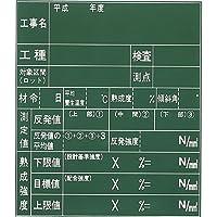 木製工事用黒板(ラーフル付) 55型 600×700mm K-55 大平産業