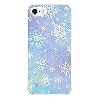 Ruuu Xperia Z5 Compact コンパクト SO-02H ハード スマートフォン スマホ ケース カ 雪の結晶 雪 冬 snow キラキラ ブルー グラデーション オーロラ おしゃれ かわいい きれい 大人可愛い