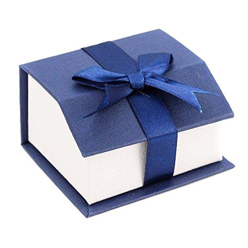 ジナブリング (JINA BRING) ギフトケース 箱 プレゼント ラッピング ギフトボックス ギフトボックス アクセサリーケース に リボン付きペーパーBOX(blue)