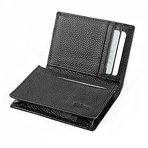Niksa 名刺入れ メンズ 本革 カードケース 40枚収納可能 大容量