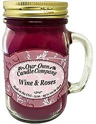 アロマキャンドル メイソンジャー ワイン&ローズ ビッグ Our Own Candle Company Wine&Roses big