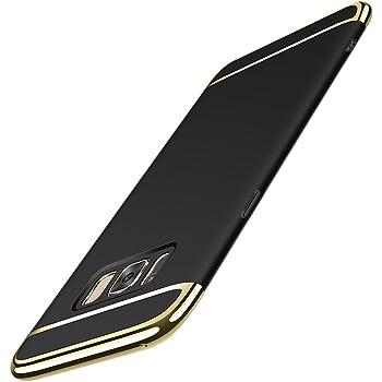 Galaxy S8 Plus ケース uovon 超薄型 Samsung S8+ 擦り傷防止 耐スクラッチ SC-03J/SCV35 おしゃれ 3パーツ式保護ケース (Galaxy S8+, ブラック)