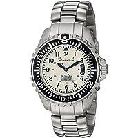Momentum Men's M-Ocean Quartz Diving Watch with Stainless-Steel Strap, Silver, 20 (Model: 1M-DN00L0