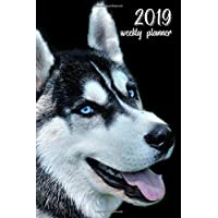 2019 Weekly Planner: 6x9 in. Siberian Husky 52 Weekly  Calendar Schedule Organizer Appointment Journal Notebook for Husky fans