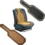Audew Car Seat Cover Universial Beaded Wooden Front Massage Seat Chair Cover Cushion Car Van Truck Blue