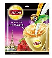 《立頓》絶品醇法式草莓乳茶(15入/袋)(フレンチイチゴミルクティー) 《台湾 お土産》 [並行輸入品]