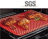 レイバン ラウンド シリコンベーキングマット、casety 1個シリコンノンスティック熱Resistantピラミッド型健康料理パンシートPastry Baking Mat Baking matroastingマット(レッド)