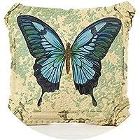 1個シンプルでシンプルなシンプルな枕カバー動物の蝶と手紙、羽毛プリント枕ケースホームホテル枕カバー,001,45x45cm