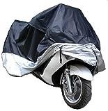 【もぐ☆ち!】大切な 大型 バイク を守る 防水バイクカバー XXXXL 295×110×140 止め具付 専用収納袋付 UV カット 防水 防塵