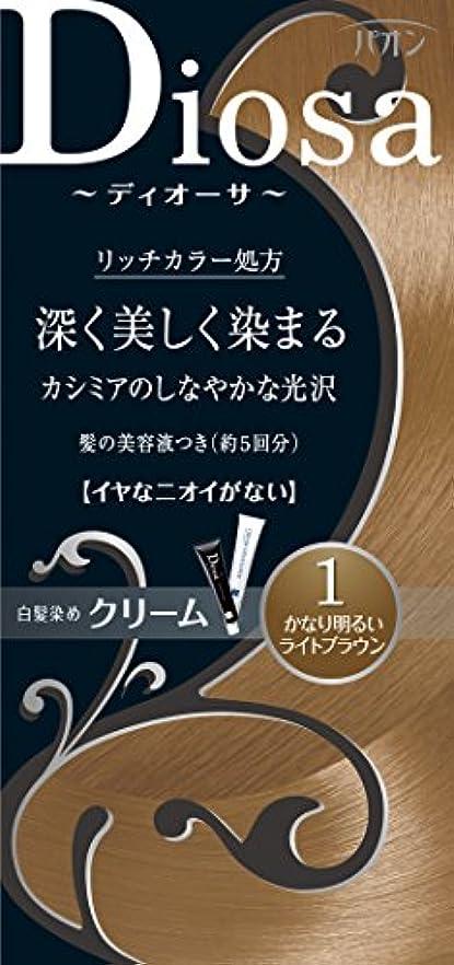 調和のとれた未知の表現パオン ディオーサ クリーム 1 かなり明るいライトブラウン 40g+40g 髪の美容液10g