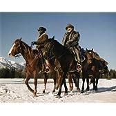 ブロマイド写真★『ジャンゴ 繋がれざる者』馬に乗るジャンゴ(ジェイミー・フォックス)&Dr.キング・シュルツ(クリストフ・ヴァルツ)