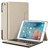 iPad Pro 10.5インチキーボードケース取り外し可能ワイヤレスBluetoothキーボードスタンド付き、seetopフリップ超スリムPUレザーカバーハードPC耐衝撃ケースカバーfor Ipad Pro 10.5インチ2017年モデル