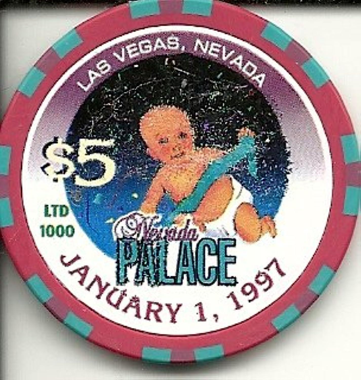 $ 5ネバダPalace Jan 1st 1997 Babyラスベガスカジノチップ
