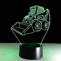 RTYHI アクリルパネル ブルドーザー 掘り出し 3D ラバランプ USB 7色変化 子供部屋 ムード照明 TFGLKLTYGH-5429605