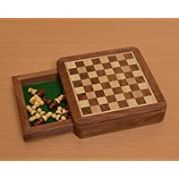 Chessbazaar Traveling Magnetic Chess Set 5 X 5 Inches With Drawer For Pieces India