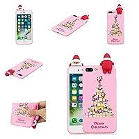 iPhone 7 Plus iPhone 8 Plus シェル [ パーフェクト 合う ] Backcover 男の子 男の子 重い 義務 保護 緩衝器 シェル の iPhone 7 Plus iPhone 8 Plus (Dark Pink)