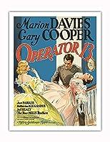 オペレータ13 - 主演 Marion Davies, Gary Cooper, Jean Parker - ビンテージなフィルム映画のポスター c.1934 - アートポスター - 51cm x 66cm