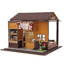 QMH-JP 手作りの立体模型組み立てる小屋ドールハウス(dollhouse)クリスマスプレゼント居酒屋 すし屋-13827