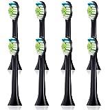 LEBOTE 高品質 電動歯ブラシ用 替えブラシ ソニッケアー ダイヤモンドクリーン ブラシヘッド ブラック(8ピース)