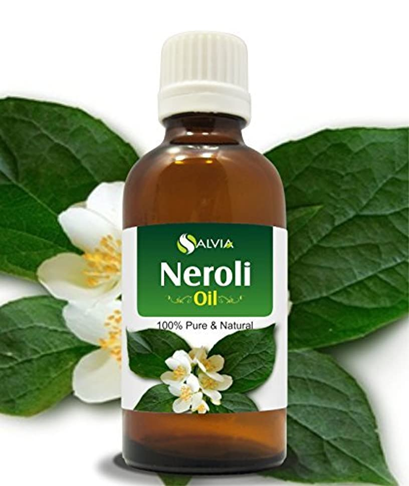 リネン涙全体にNEROLI OIL 100% NATURAL PURE UNDILUTED UNCUT ESSENTIAL OILS 30ML by Salvia