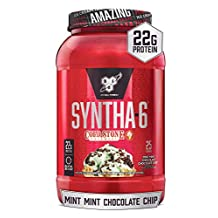 BSN Syntha-6 Whey Protein Powder, Cold Stone Creamery- Mint Mint Chocolate Chocolate Chip Flavor, Micellar Casein, Milk Protein Isolate Powder, 25 Servings