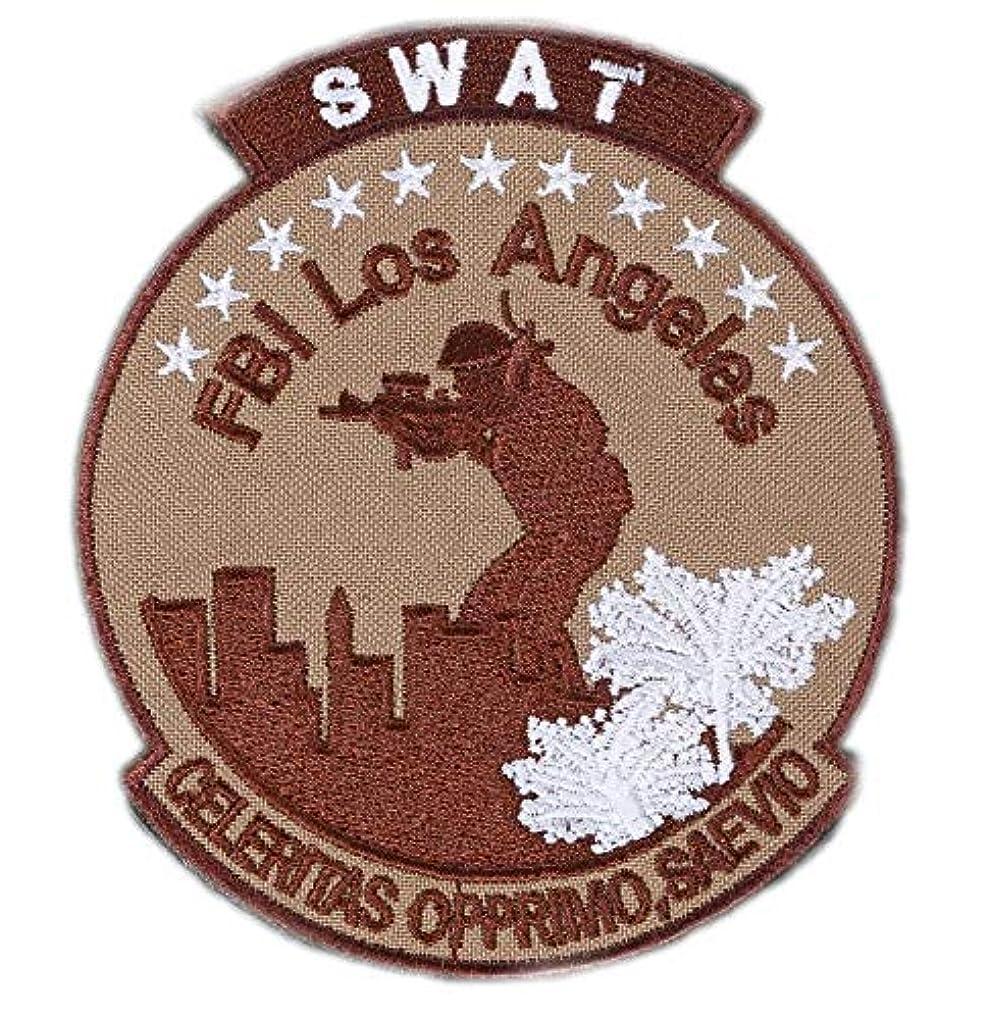 講義ページェント追い越す[ ワッペン屋Dongri ] ベルクロ ワッペン パッチ ミリタリー FBI SWAT Los Angeles A0414