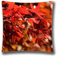Magnificentスプリング枕カバー18x 18インチツインサイドJapanese Maple Leavesパターン枕カバーケース、art7240
