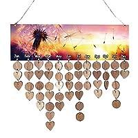 PETSOLA 素朴 木製 壁 カレンダーボード 誕生日 記念日 リマインダ看板 壁飾り 多種選べる - #5