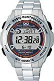 [シチズン キューアンドキュー]CITIZEN Q&Q 腕時計 SOLARMATE (ソーラーメイト) 電波ソーラー デジタル表示 クロノグラフ 10気圧防水 シルバー MHS7-200 メンズ