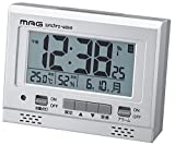 MAG(マグ) 電波目覚まし時計 エアサーチグッドライト デジタル表示 シルバーメタリック T-694SM-Z