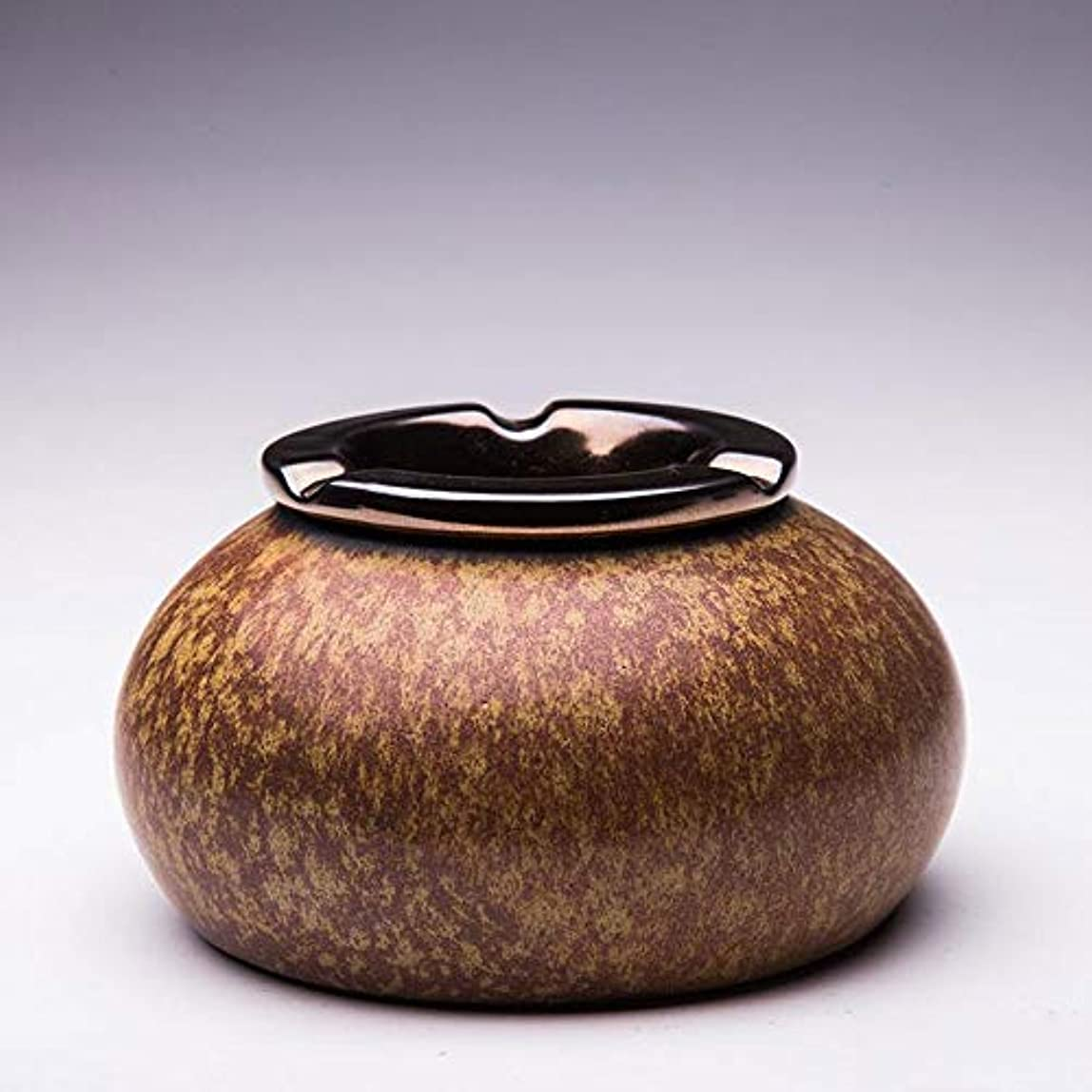 特許木材貝殻灰皿Creative Outdoor Ceramics灰皿 (色 : 褐色)