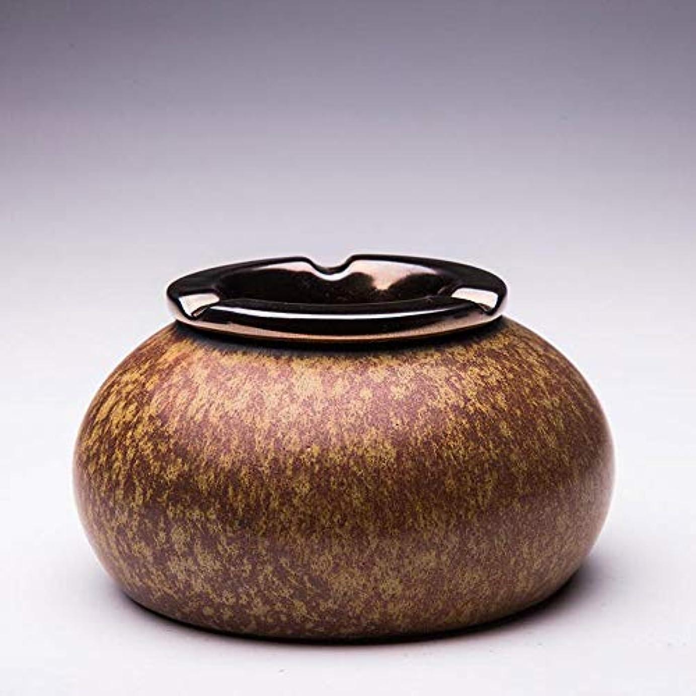 他のバンドで宣伝無駄な灰皿Creative Outdoor Ceramics灰皿 (色 : 褐色)