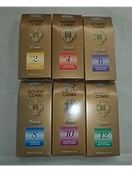 Gonesh 2 4 6 8 10 12 Incenseサンプラー25 Cones x 6パック( 150円錐)