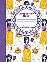 Composition book: Zodiac Gemini Astrology Nymph Warrior Goddess Composition Notebook Journal Diary 100 paged Wide Ruled