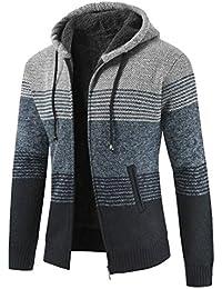 A-SING メンズ冬暖かいフリースはジップアップセーターアップパーカージャケットコート