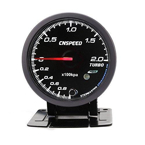 CNSPEED ブースト計 ターボ計 60φステビングモーター オートゲージ ワーニング機能付きターボブースト レーサーゲージ