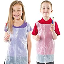 Baker Ross Disposable Aprons. Disposable Aprons with Halter Neck and Waist Ties - Pack of 50