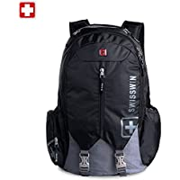 "SWISSWIN Swiss Backpack/Travel Backpack/School Backpack/Daily Backpack SW9176 Black 15.6"" Laptop"
