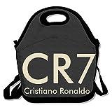 ZMONO ファッション メンズ クリスティアーノ ロナウド サッカー CR7 ロゴ ランチバッグ 保冷 保温 再利用可能 通勤