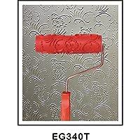 木製の穀物ツールハンドル付き7インチempaisticゴム粒状パターンスタンプ用壁絵画装飾diy赤 - スタイル11